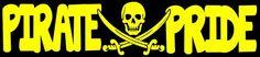 Pirate Pride Decal -Pirate Mascot College School High School Football Baseball Soccer | LilBitOLove - Housewares on ArtF