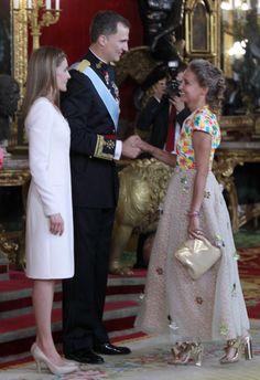 Carla de Bulgaria recepcion Felipe VI Letizia
