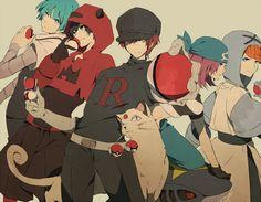 Team Galactic, Team Magma, Team Rocket, Team Aqua, and Team Plasma. (Pokemon Villainous Teams)