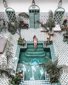 10 Best Hotel Pools in the World Tile and plunge pool heaven! Riad BE in Marrakech, MoroccoTile and plunge pool heaven! Riad BE in Marrakech, Morocco Places To Travel, Travel Destinations, Places To Visit, Travel Tips, Travel Hacks, Travel Videos, Rv Travel, Travel Deals, Jacuzzi