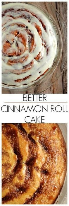 Better Cinnamon Roll Cake with Cream Cheese Frosting my improved version of the cinnamon roll cake! It be easier than this! Cake for lady Just Desserts, Delicious Desserts, Yummy Food, Baking Recipes, Cake Recipes, Dessert Recipes, Pie Dessert, Cake With Cream Cheese, Cream Cake