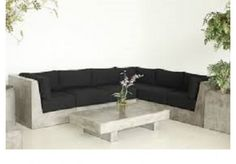 The Modern Leather Couch And Loveseat Of Furniture Concrete Dining Table, Concrete Furniture, Concrete Patio, Patio Table, Sofa Furniture, Garden Furniture, Furniture Design, Outdoor Furniture, Furniture Refinishing