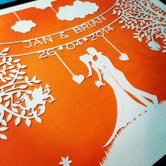 Wedding paper-cut | Emily Beach Design