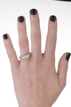 Last angle/view of the three stone diamond engagement ring!