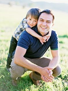 dad and son pose. This could work with either gender in either place.