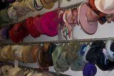 Angels the costumiers- great way to hang hats