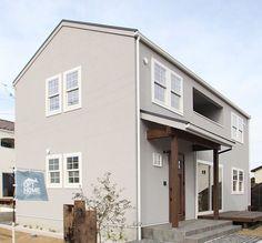 ♯113 好きな色の中で暮らす | OPT HOME |山梨でデザイン住宅を建てるならオプトホーム Japan Modern House, House Entrance, Facade, Minimalist, Exterior, Outdoor Decor, Homes, Home Decor, Room