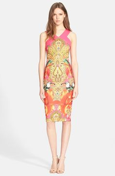 'Valeena' Print Sheath Dress