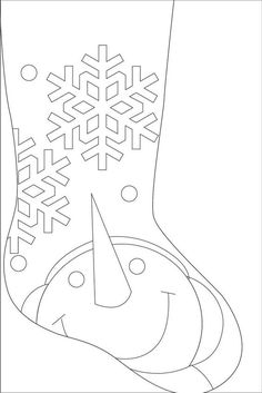 Snowman Stocking - Pattern only. Felt Christmas Stockings, Christmas Stocking Pattern, Felt Stocking, Christmas Applique, Felt Christmas Ornaments, Christmas Sewing, Christmas Decorations, Stocking Ideas, Christmas Makes