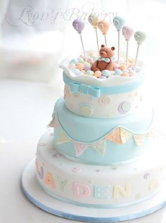 Baby Shower Cake So many cute cakes! Pretty Cakes, Cute Cakes, Beautiful Cakes, Amazing Cakes, Torta Baby Shower, Baby Cakes, Pink Cakes, First Birthday Cakes, Baby Birthday