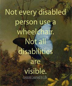Quote on being disabled.