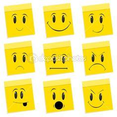 çeşitli yüz ifadeleri — Stok İmaj #4302123