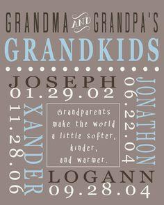 Grandparent love! Great gift for grandparents -- good for Valentine's Day?