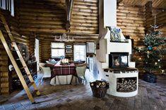 decoracion navidad  casa de campo nordica