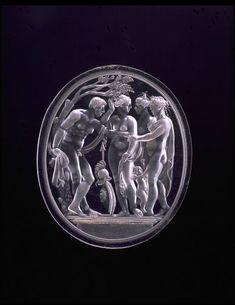 The Judgement of Paris rock crystal intaglio, Italian, c. 1520-30, Victoria and Albert Museum, London