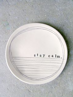 5 dish stay calm  MADE TO ORDER by mbartstudios on Etsy, $24.00