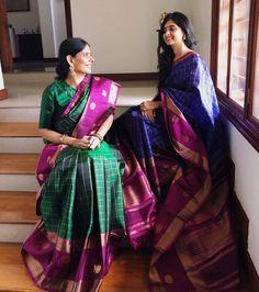 You will be floored! Half Saree Designs, Sari Blouse Designs, Dress Designs, Blouse Patterns, Silk Saree Kanchipuram, Kanjivaram Sarees, Pochampally Sarees, Saree Accessories, Elegant Saree