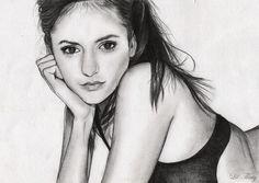 Elena Gilbert - The vampire diaries  by Lil-Thing.deviantart.com on @DeviantArt