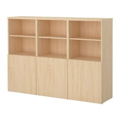 BESTÅ Storage combination with doors - birch effect - IKEA $240 FOR THIS. THIS IS EXACTLY WHAT I'M GOING FOR ALONG THE BACK WALL.... EXCEPT IN WHITE. ALREADY HAVE 2 OF THESE SHELVING UNITS. NEED 2 MORE AND ALL 4 DOORS IN TEAL-GRAY OR WHITE.