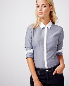 Every girl needs a crisp dress shirt in her wardrobe. Try styling this trendy…