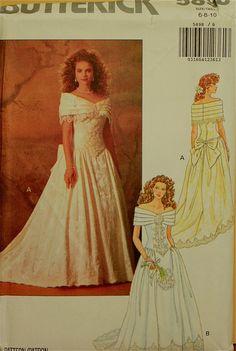 1990s Evening Dress & Bridal Butterick Pattern by patterntreasury, $18.95