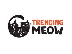 Логотип для интернет-магазина, где продаются различные товары для любителей котов: футболки, кружки, сумки, шапки с ушами и т.п. https://www.behance.net/gallery/37948707/Trending-Meow