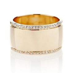 Diamond Wedding Rings This wide gold band with pave edges is available in White, Yellow or Rose Gold. *Please allow weeks for delivery. - This wide gold band with pave edges is available in White, Yellow or Rose Gold. Rose Gold Diamond Ring, Gold Band Ring, Wide Band Rings, Pave Ring, Silver Ring, Wide Wedding Bands, Diamond Wedding Bands, Diamond Engagement Rings, Genuine Emerald Rings