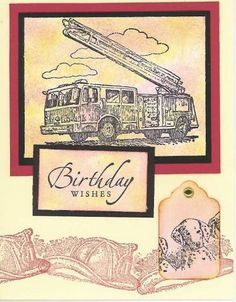 firefighter bday #4 by rebuh - Cards and Paper Crafts at Splitcoaststampers