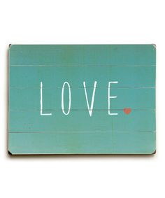 Blue 'Love' Wall Art