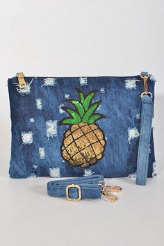 Pineapple Denim Clutch! Don't Miss Out On Restocked & New Arrival Items Arriving This Week! Visit Our Site To Pre-Order Now. www.glamcoutureboutique.com #newarrivals #restock #bestseller #fashion #accessories #jewelry #handbags #clutches #sunglasses #faux #fur #denim #neworleans #fashiontruck #mobiletruck #mobileboutique #shopthetruck #westopyoushop #booktheboutiquetruck #glamcoutureboutique