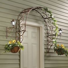 Over-the-Door Arch Trellis Would be great over back door with some trailing vines. Description from pinterest.com. I searched for this on bing.com/images