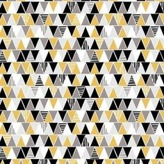 Triangles Yellow cotton
