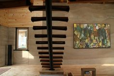Ontario's first rammed earth home by Stones Throw Design Inc. and Aerecura Rammed Earth Builders