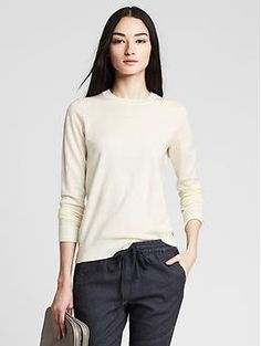1/15 - Pima Cotton/Cashmere Anna Crew Pullover (Gone; Worn Out, Style/Too Short)