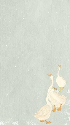 Download premium image of Three geese phone wallpaper illustration by Tang about phone wallpaper, 3, aesthetic, android wallpaper, and animal 2443835   Phone wallpaper, Aesthetic iphone wallpaper, Illustration art girl