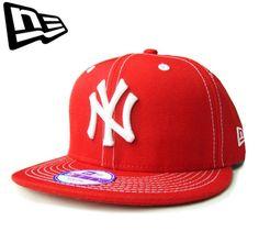"""【ニューエラ】【NEW ERA】9FIFTY KIDS NEW YORK YANKEES """"NY"""" ホワイトステッチ レッド キッズサイズ スナップバック【CAP】【newera】【snap back】【帽子】【赤】【白】【子ども】【BLACK】【キャップ】【ダンス】【あす楽】【楽天市場】"""