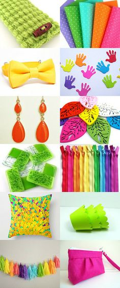 Summer colors by Valérie Bijoux Elkasa on Etsy--Pinned with TreasuryPin.com