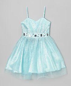 Look what I found on #zulily! Blue & Aqua Sequin Camille Dress - Toddler & Girls #zulilyfinds