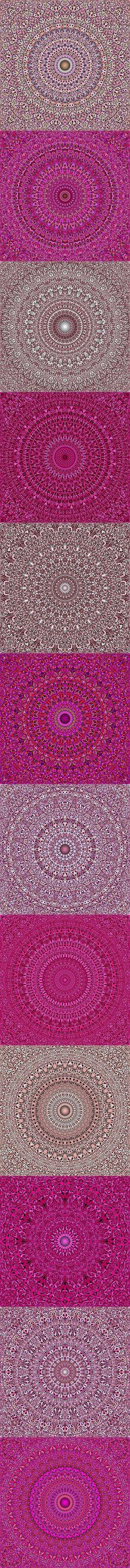 Buy 12 Pink Floral Mandala Seamless Patterns by DavidZydd on GraphicRiver. 12 seamless floral mandala pattern backgrounds in pink tones DETAILS: 12 JPG (RGB files) size: 12 geometr. Flower Pattern Design, Flower Designs, Mandala Pattern, Mandala Design, Pink Patterns, Flower Patterns, Flower Wallpaper, Pattern Wallpaper, 3d Fantasy