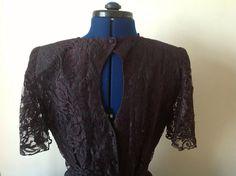 Beautiful vintage black lace dress size 12 by Kittishiddentreasure, £17.99