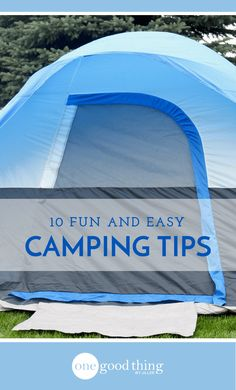 Camping is always fun, but it can be a lot of work! Use these 10 easy tips to help make it easier. Includes tips for food, activities, safety, and more!