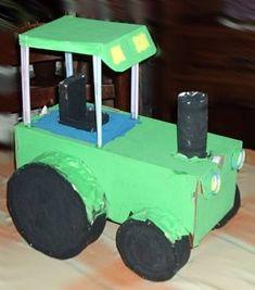 Knutselwerkje Tractor van knutselidee.nl