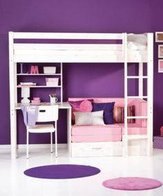 My daughter wants a loft bed soooo bad. This would be perfect!