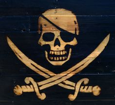 AZ DIY Guy's Projects: Burned Pallet Wood Pirate Flag