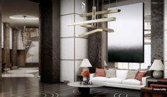 Monaco Penthouse- geometrically styled private lobby