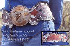 ♥ Cowgirls ♥ ❦ reridestories:  Belts handmade by the girls at Re-Ride Stories. www.reridestories.com