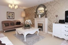 Living room in The Holden a four bedroom David Wilson Home for sale in Hinckley