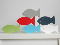 Modern Nautical Nursery Fish  Beach decor by TheSeasideKids
