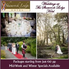 Shamrock Lodge Hotel in Westmeath, caters for weddings of from per person. Wedding Catering, Wedding Venues, November 2015, Real Weddings, Wedding Places, Wedding Locations