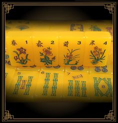Red Coin Mah Jong Ninth Edition Dragon Set Flower tiles